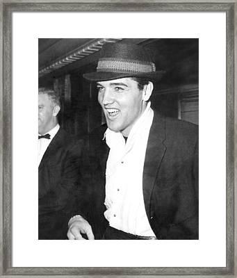 Elvis Presley Smiling Framed Print by Retro Images Archive