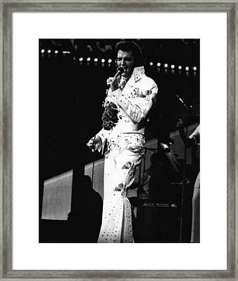 Elvis Presley Still The King Framed Print
