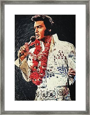 Elvis Presley Framed Print by Taylan Apukovska