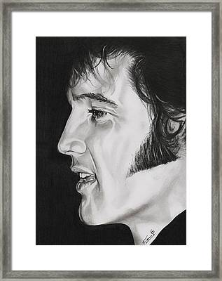 Elvis Presley  The King Framed Print