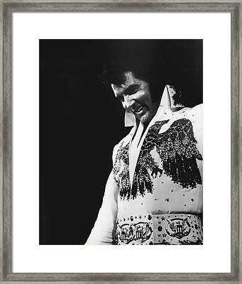 Elvis Presley The King Framed Print by Retro Images Archive
