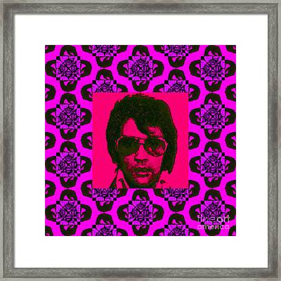 Elvis Presley Window M88 Framed Print by Wingsdomain Art and Photography