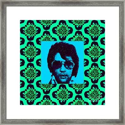 Elvis Presley Window P128 Framed Print by Wingsdomain Art and Photography