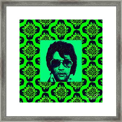 Elvis Presley Window P88 Framed Print by Wingsdomain Art and Photography