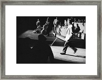 Elvis Presley With An Orchestra 1956 Framed Print