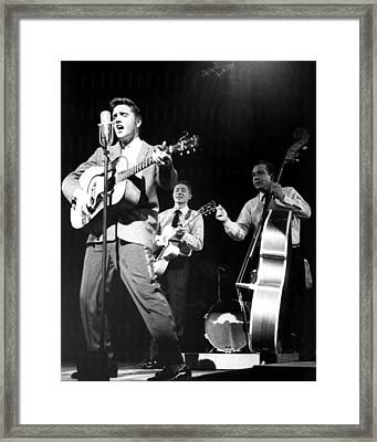 Elvis Presley With Band Framed Print by Retro Images Archive