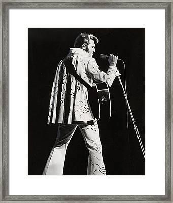 Elvis Presley At Mic Framed Print