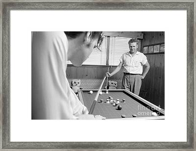 Elvis Presley With His Father Vernon 1956 Framed Print