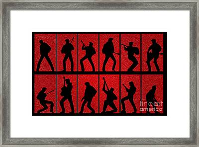 Elvis Silhouettes Comeback Special 1968 Framed Print