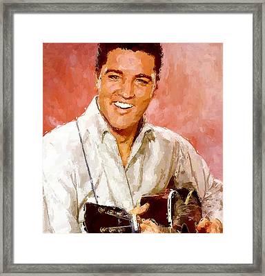 Elvis Singing 3 Framed Print