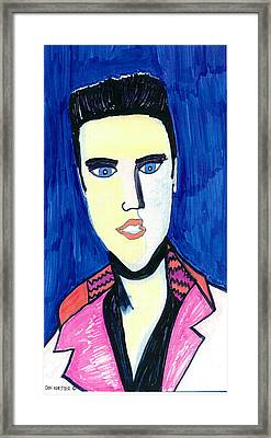 Elvis The King Framed Print by Don Koester