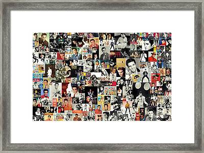 Elvis The King Framed Print by Taylan Apukovska