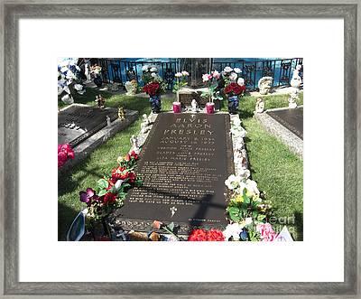 Elvis's Grave Framed Print