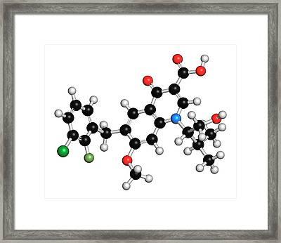 Elvitegravir Hiv Drug Molecule Framed Print