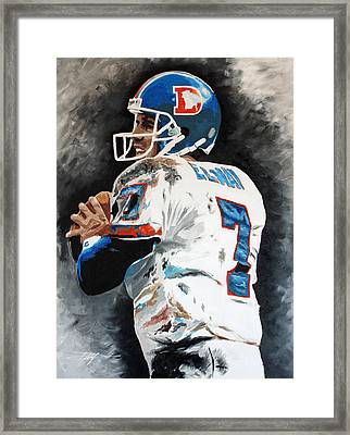 Elway Framed Print by Don Medina
