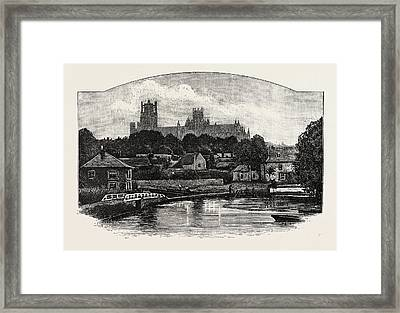 Ely Cathedral, From The River Framed Print