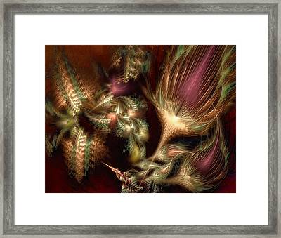 Framed Print featuring the digital art Elysian by Casey Kotas