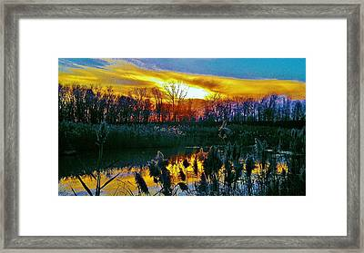 Framed Print featuring the photograph Emagin Sunset by Daniel Thompson