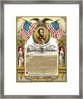 Emancipation Proclamation Tribute 1888 Framed Print