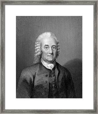 Emanuel Swedenborg Framed Print by Universal History Archive/uig