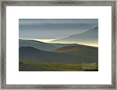 Embalses Del Guadalteba Landscape - Andalusia Framed Print by Heiko Koehrer-Wagner
