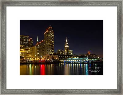 Embarcadero Blue Hour Framed Print