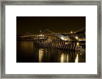 Embarcadero Boats Framed Print