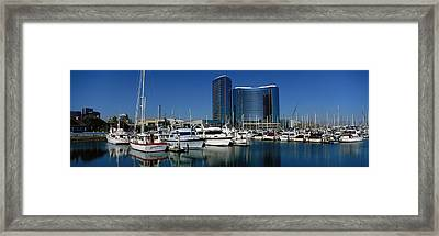 Embarcadero Marina Hotel, San Diego Framed Print