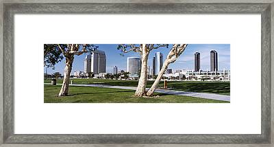 Embarcadero Marina Park, San Diego Framed Print by Panoramic Images