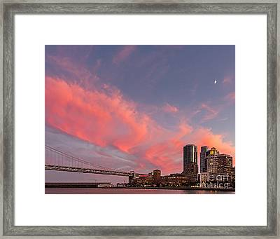 Embarcadero Sunset Framed Print