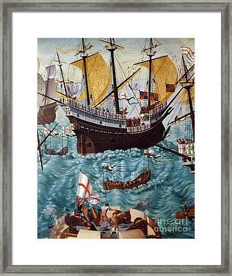 Embarkation Of Henry Viii Framed Print