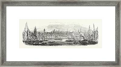 Embarkation Of Her Majesty From The Landing Stage Framed Print by English School