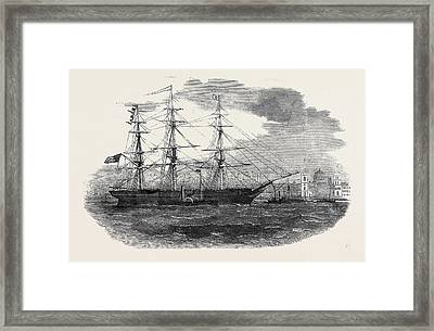 Embarkation Of The 3rd Regiment Of Lancashire Militia Framed Print by English School