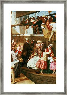 Embarkation Scene Framed Print by George Tuson