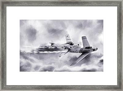 Embattled Bw Framed Print by Peter Chilelli