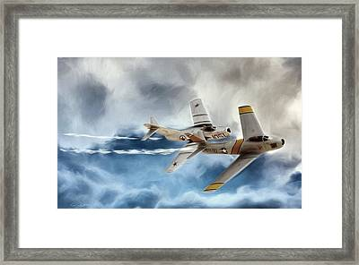Embattled Mig Alley Framed Print by Peter Chilelli