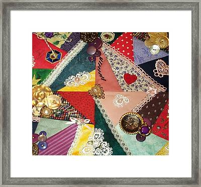 Buttons And Beads And Baubles Oh My Framed Print by Paula Talbert