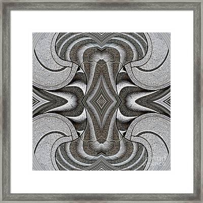 Embellishment In Concrete 2 Framed Print by Sarah Loft