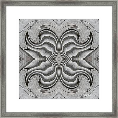 Embellishment In Concrete 3 Framed Print by Sarah Loft