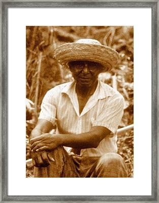 Embera Brujo Framed Print