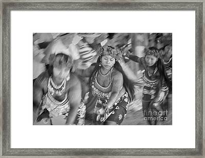 Embera Villagers In Panama As Black And White Framed Print
