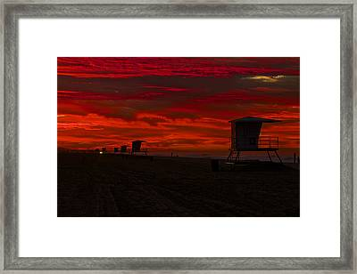 Framed Print featuring the photograph Embers Of Dawn by Duncan Selby