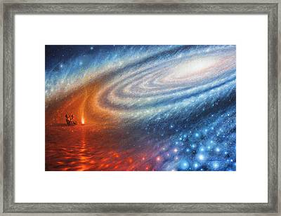 Embers Of Exploration And Enlightenment Framed Print by Lucy West