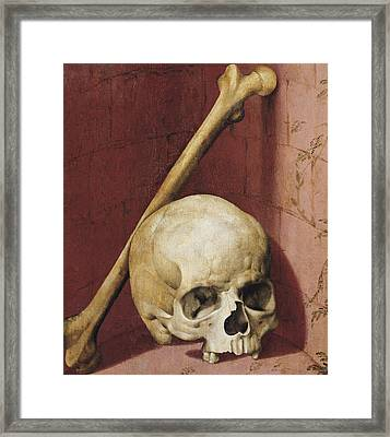 Emblems Of Death Framed Print by German School