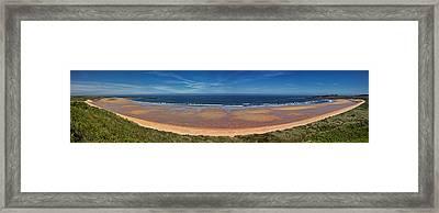 Embleton Bay Panorama Framed Print by David Pringle