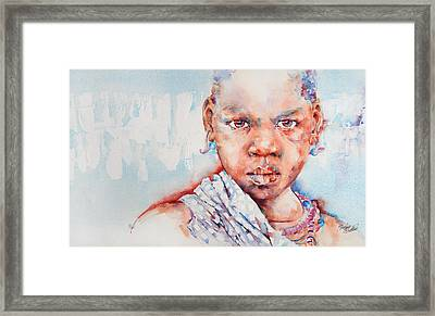 Embolden - African Portrait Framed Print by Stephie Butler