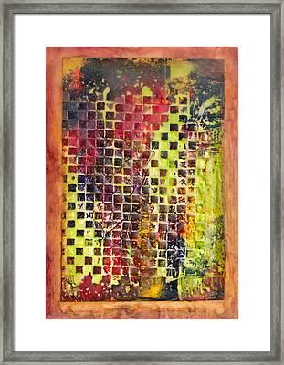 Embossed Blocks Encaustic Framed Print