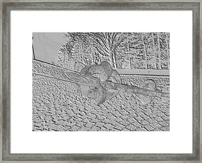 Framed Print featuring the photograph Embossed Chain by Michael Porchik