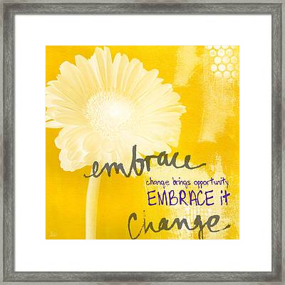 Embrace Change Framed Print by Linda Woods