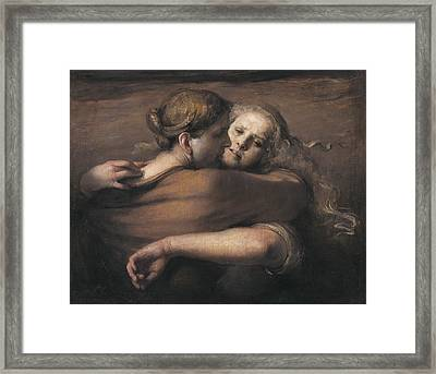 Embrace Framed Print by Odd Nerdrum